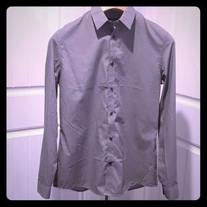 Men's H&M light grey long sleeve dress shirt NEW!